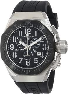 Swiss Legend Men's 10540-01-BB Trimix Diver Chronograph Black Dial Black Silicone Watch