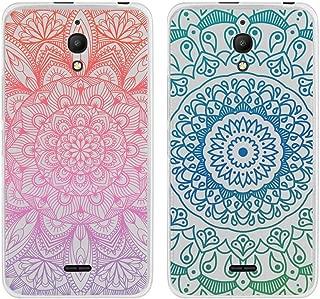 [2-Pack] for Alcatel Pixi 4 Case, Clear Anti-Scratch Shock Slim Protective Men Women Girls Soft TPU Bumper Cover Phone Case for Alcatel Pixi 4 6 inch 4G LTE 6 inch 4G LTE -Mandala