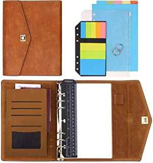 """SynLiZy A5 PU Leather Personal Organizer Undated Planner (A5 Gray) 7.48"""" x 9.4""""(Paper Size 5.5""""x 8.3"""") photo"""