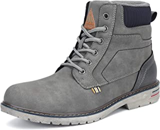 Mishansha Mens Womens Winter Anti-Slip Leather Warm Snow Boots Water Resistant Shoes Warm Lined