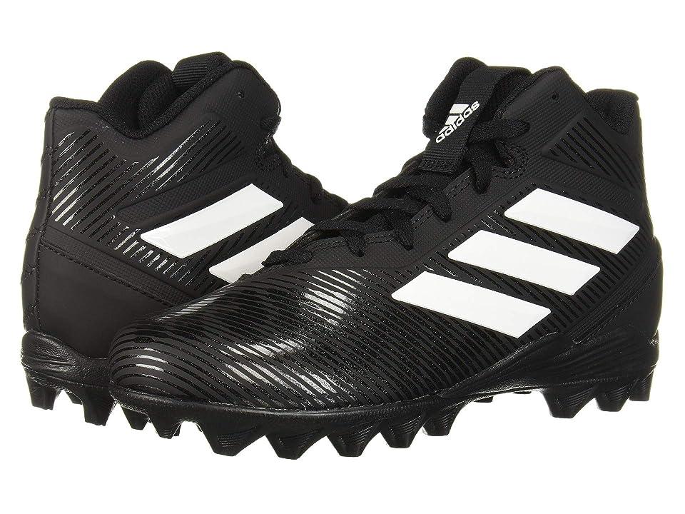 adidas Kids Freak Mid MD Football (Toddler/Little Kid/Big Kid) (Black/White) Kids Shoes