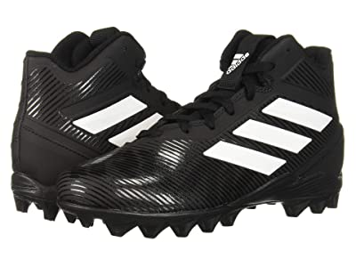 adidas Kids Freak Mid MD Football (Toddler/Little Kid/Big Kid) (Black/White) Kids Shoes