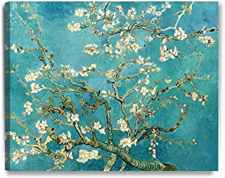 DecorArts - Almond Blossom Tree, by Vincent Van Gogh. The Classic Arts Reproduction. Giclee Print On Canvas, Stretched Canvas Gallery Wrapped. 30x24