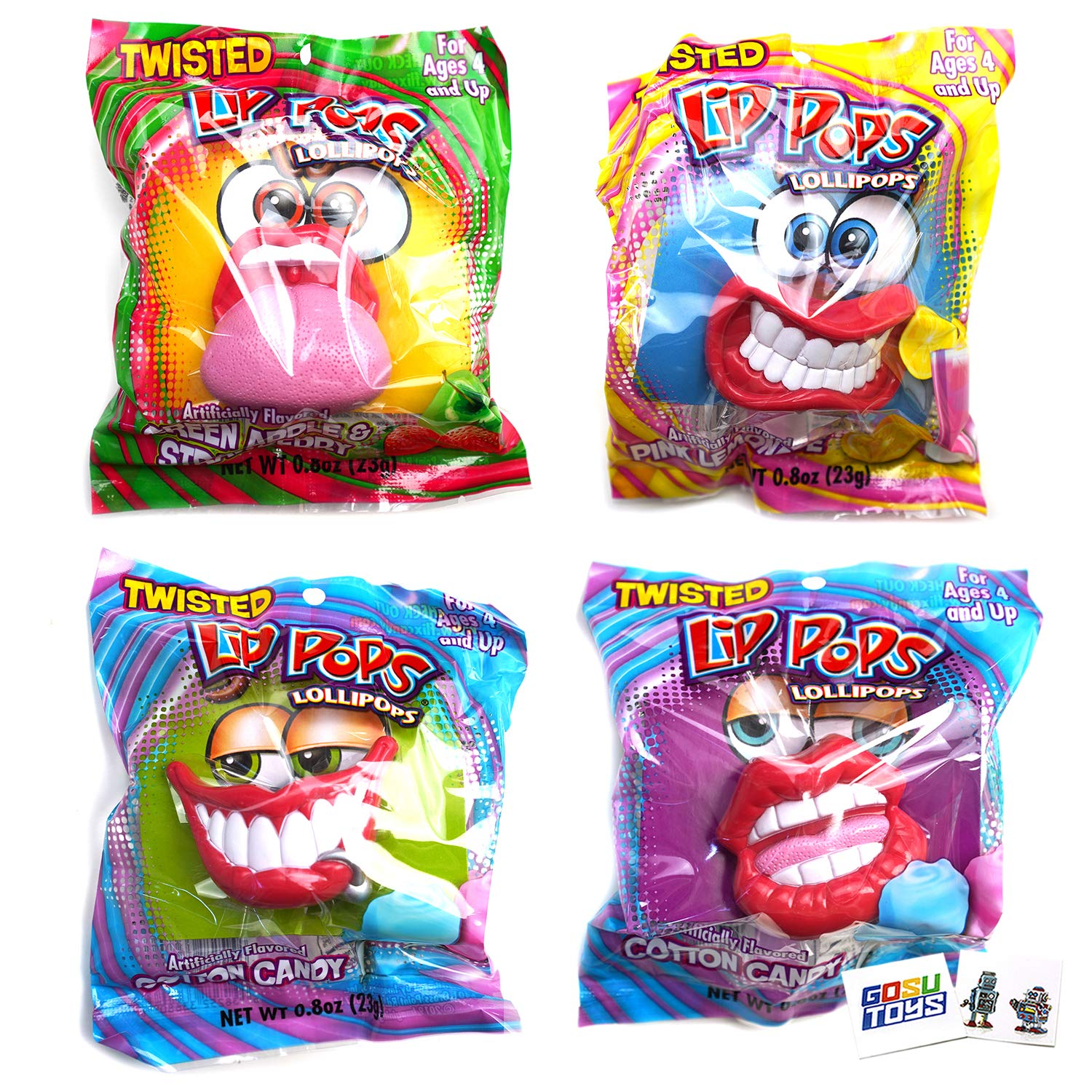 Max 59% OFF Twisted Lip Pops Lollipops 4 discount Different Pack Lips Assorted F