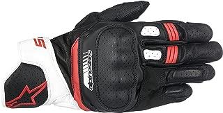 Alpinestars SP-5 Leather Gloves (Medium) (Black/White/RED)