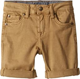 Classic Five-Pocket Stretch Twill Shorts in Dark Khaki (Little Kids/Big Kids)