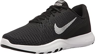 Nike Women's Flex Trainer 7 Cross, Black/Metallic Silver - Anthracite - White, 5 B(M) US
