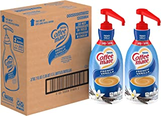 Coffee-mate 31803 Liquid Coffee Creamer, French Vanilla, 1500mL Pump Bottle