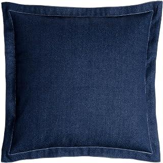 Black Velvet Studio Funda cojín Blue 100% poliéster, Color Azul Oscuro. Toque Casual 45x45 cm.