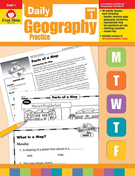 Daily Geography Practice Grade 1