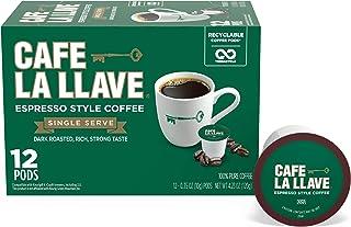 Sponsored Ad - Café La Llave Espresso K-Cup (72 Count) Recyclable Single-Serve Coffee, Compatible with Keurig K-Cup Brewers