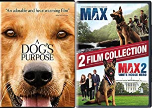 Devoted dogs 2 DVD / Max the Dog + White House Hero favorite canine & A Dog's Purpose 3 Feature Films