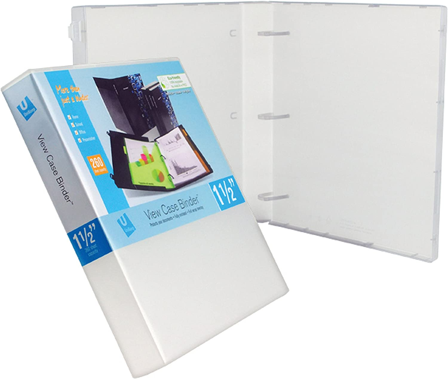 UniKeep shipfree 3 Ring Binder - Clear Spine Case W Inch 1.5 Clearance SALE Limited time