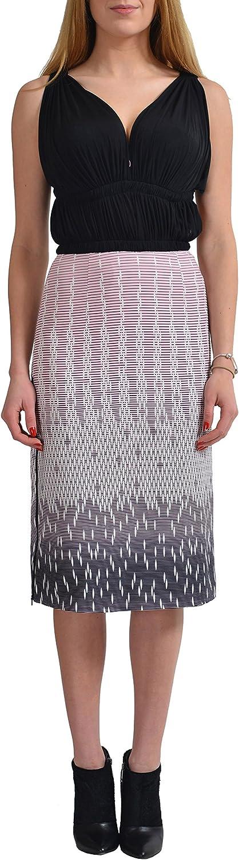 Versace Versus Women's Zip Decorated Sleeveless Sheath Dress US 2 IT 38