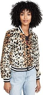 Women's Cat Power Leopard Faux Fur Bomber