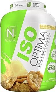 NutraKey ISO Optima White Chocolate Macadamia Nut Protein Supplements, 5 Pound
