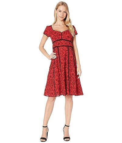 Nanette Lepore Embroidered Dress (Red Multi) Women