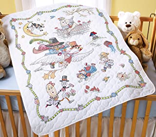 Mary Engelbreit Mother Goose Crib Cover Stamped Cross Stitch-34