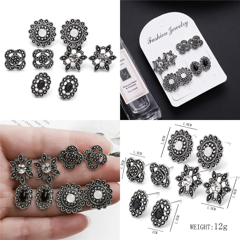 ZHEPIN 6 Pair Leather Teardrop Earrings for Women Dangle Leaf Earrings Set for Girls Gifts