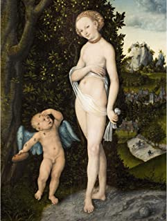 Cranach Elder Venus Cupid Stealing Honey Painting Large Wall Art Poster Print Thick Paper 18X24 Inch
