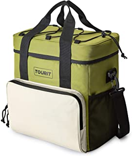 TOURIT Cooler Bag 35-Can Insulated Soft Cooler Portable Cooler Bag 24L Lunch Coolers for Picnic, Beach, Work, Trip, Green