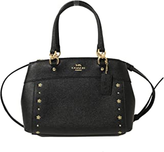 29b983aca9dad Coach Womens Mini Brooke Carryall Handbag, Signature Crossgrain Leather,  Detachable Crossbody Strap