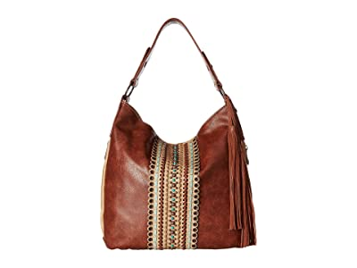 M&F Western Laney Shoulder Bag (Brown) Shoulder Handbags