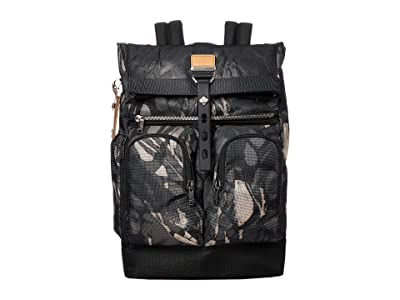 Tumi Alpha Bravo London Roll-Top Backpack (Grey Highlands Print) Backpack Bags