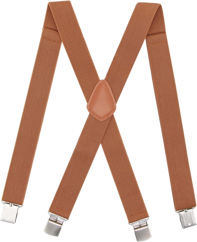 Fees free Bioterti Men's Heavy Duty Suspenders-Adjustable X- Back Siz Nippon regular agency