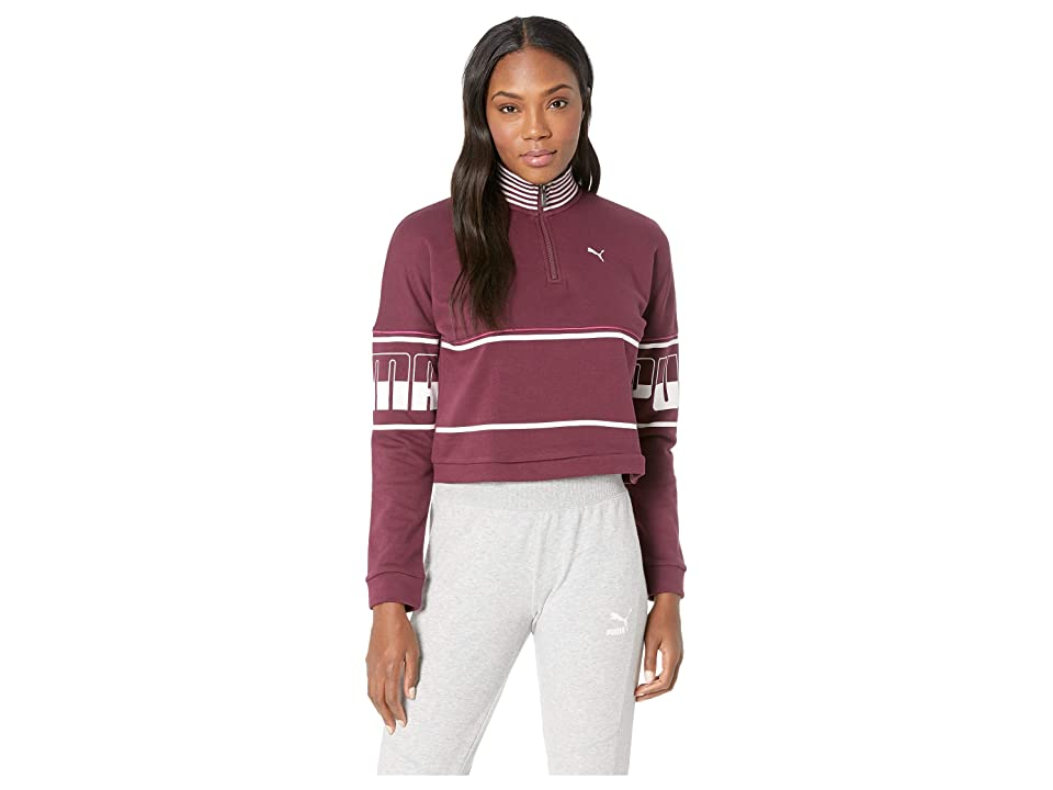 PUMA Rebel 1/2 Zip Turtleneck (Fig) Women