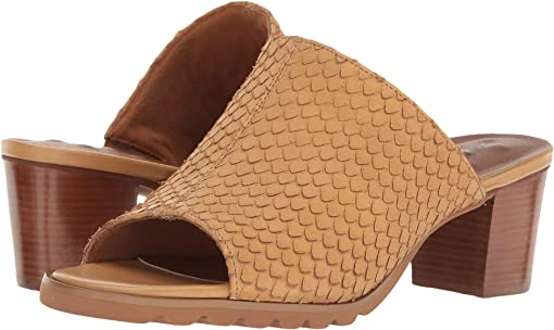 Camel Cut Snake Print Leather
