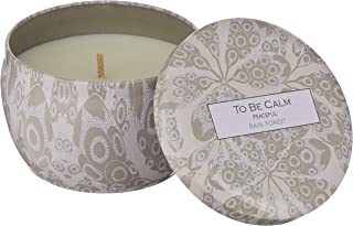 To Be Calm CSM-PEA Peaceful Rain Forest Mini Soy Candle,Beige