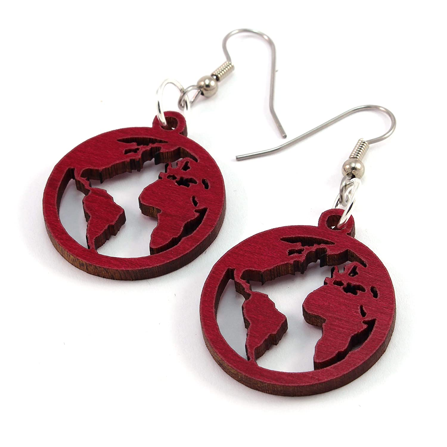 Globe Earrings made of Sustainable Wood Seasonal Wrap Introduction Small 1