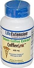Life Extension, CoffeeGenic, Green Coffee Extract, 400 mg, 90 Veggie Caps - 2pc