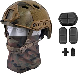 LOOGU Fast PJ Base Jump Military Helmet with 12-in-1 Headwear