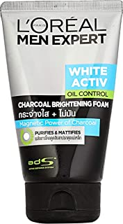 L'Oreal Paris Men Expert White Activ Oil Control Charcoal Foam, 100ml