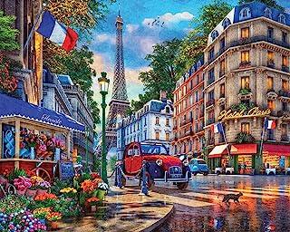 Springbok's 1000 Piece Jigsaw Puzzle Paris Street Life - Made in USA