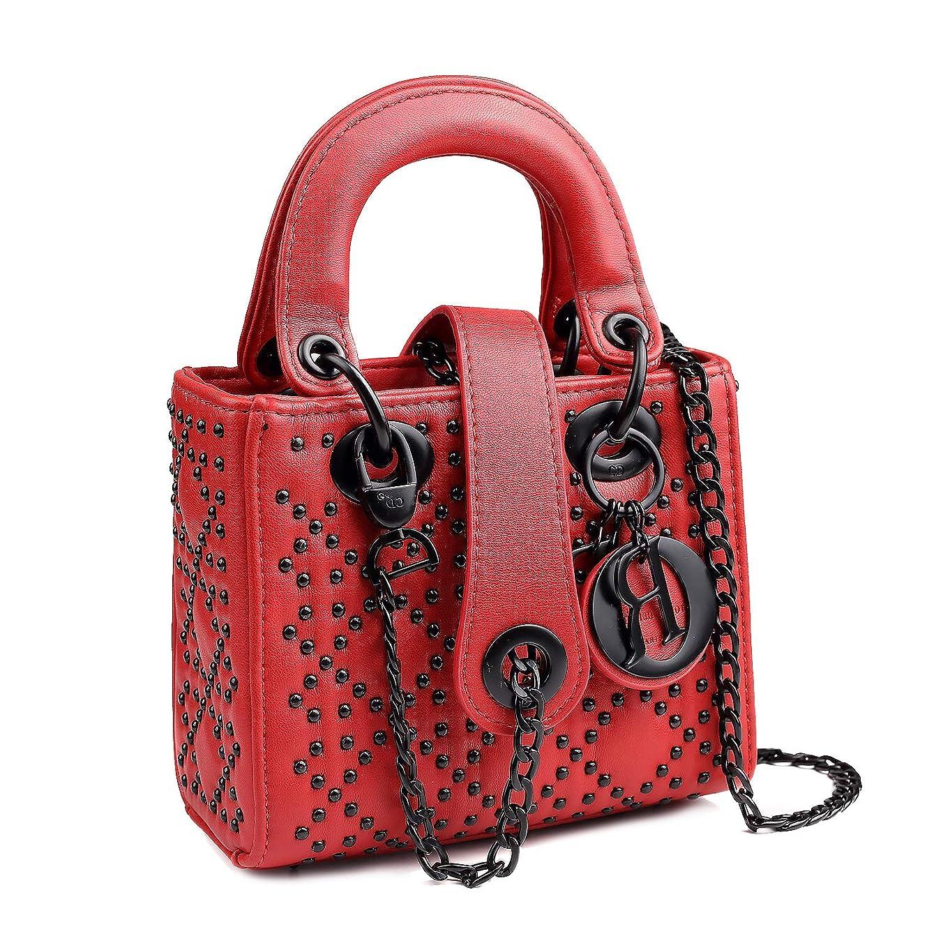 ヒューバートハドソン素敵なディレクトリショルダーバッグ メッセンジャーバッグ 斜めかけバッグ バッグ チェーン ミニバッグ LADY 6611红