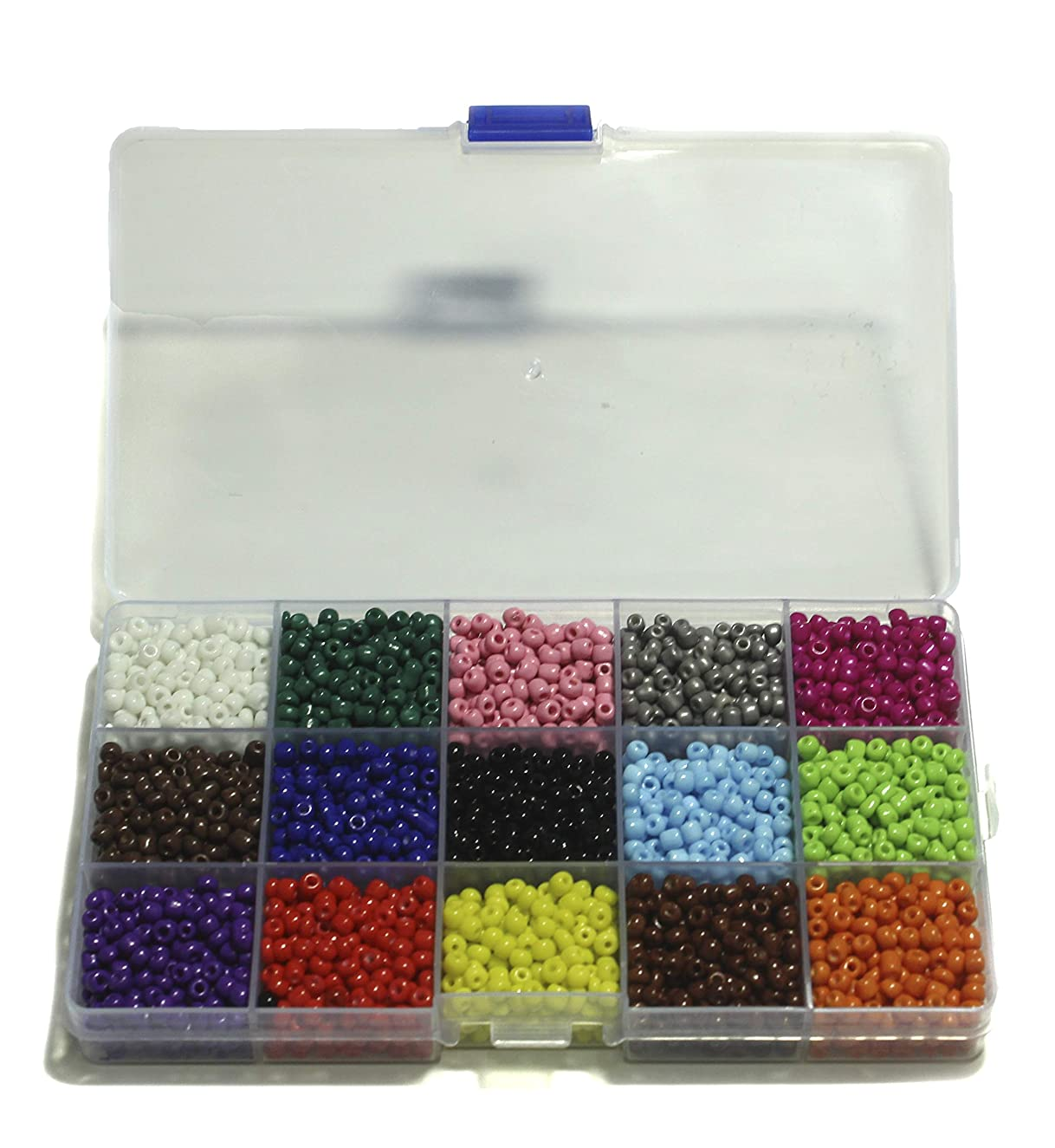 ALL in ONE Extravaganza Bead Box: 15 Color Plastic Rainbow Opaque Pony Bead 4mm
