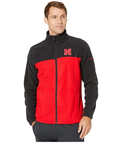 Columbia College Nebraska Cornhuskers CLG Flankertm III Fleece Jacket (Black/Bright Red) Men