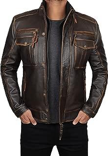 Real Leather Jacket Men - Premium 100% Lambskin Mens Leather Jacket