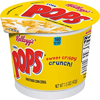 Corn Pops Original Kellogg's Breakfast Cereal In A Cup (Pack of 60)