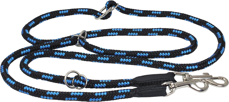 Adjustable Multifunctional Rope Dog Leash 42 70  (Medium; 0.4  (10mm) Diam, bluee Black)