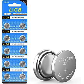 LiCB 10 Pack 371 SR920SW Watch Battery,Long-Lasting & Leak-Proof,High Capacity Silver Oxide 1.55V Button Cell Batteries for Watch