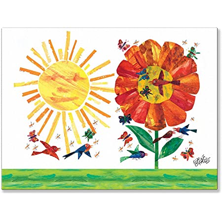 Amazon Com Oopsy Daisy Fine Art For Kids Garden Stretched Canvas Art By Eric Carle 24 By 18 Inch Childrens Wall Decor Posters Prints