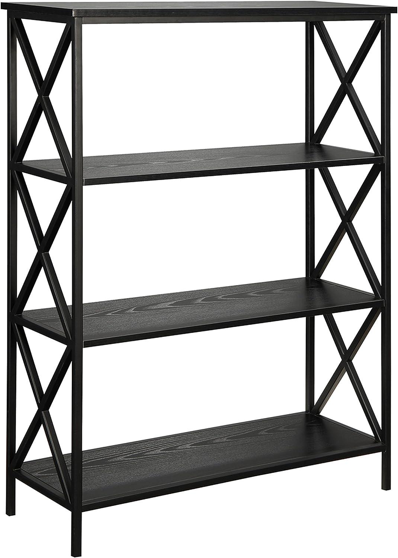 Convenience Concepts Tucson 4-Tier Bookcase, Black