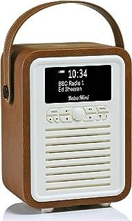 VQ Retro Mini DAB+ Digital Radio with FM, Bluetooth & Alarm Clock, Brown, (VQ-Mini-BR/AUS)