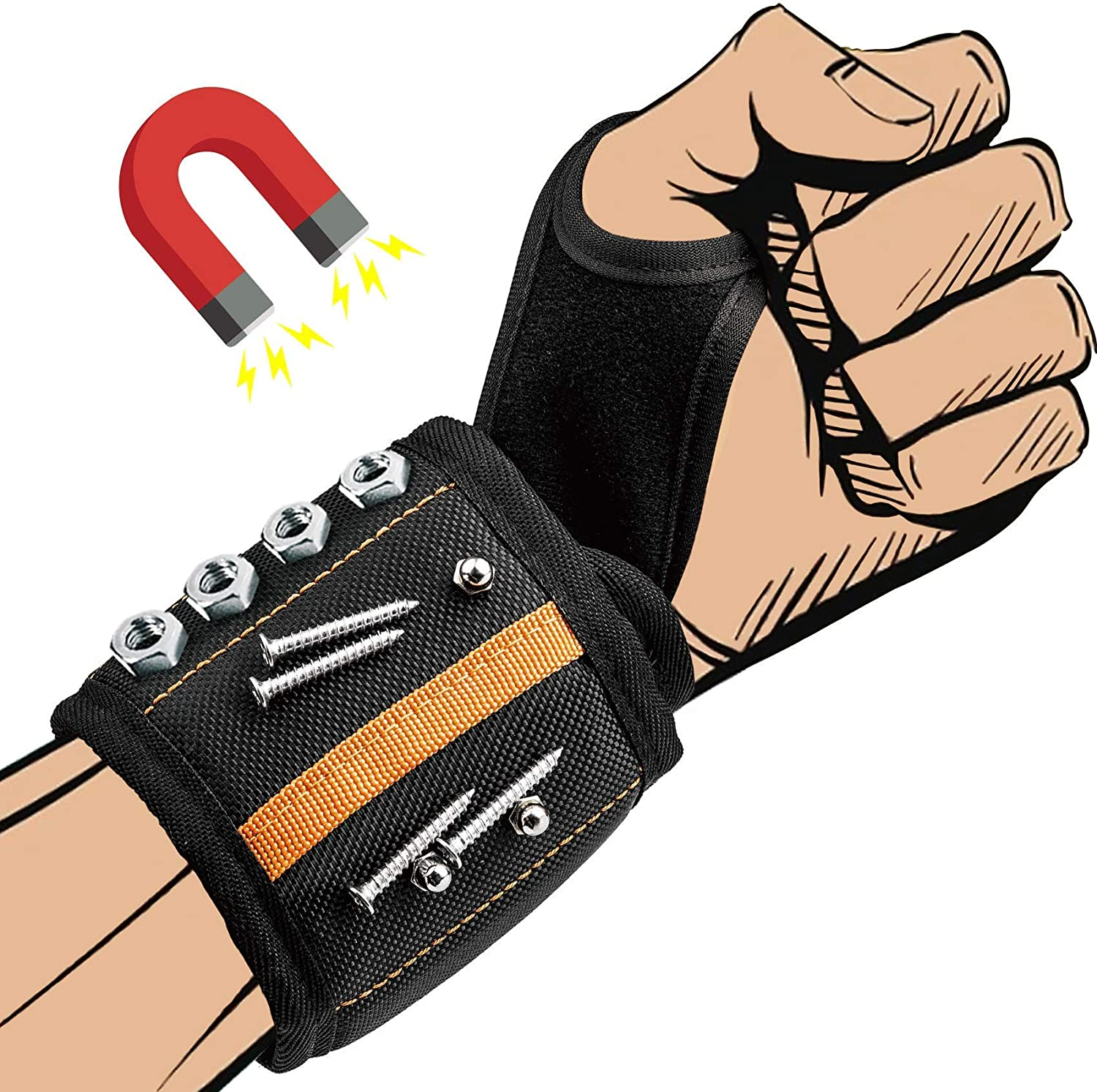 Magnetic OFFicial site Wristband With Outlet sale feature 20 Strong Wrist Super Magnets