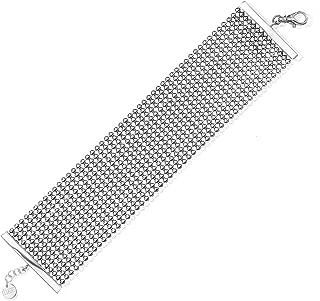 COLLECTION BIJOUX 100 Fine Silver Plated Perline 36mm Wide Bracelet, 7.5
