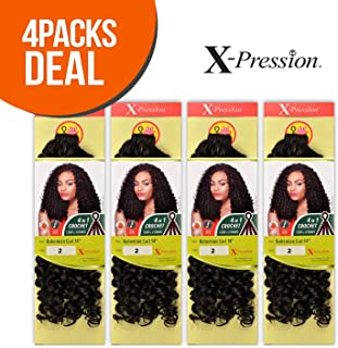 Outre Synthetic Hair Crochet Braids X-Pression Braid 4 In 1 Loop Bohemian Curl 14